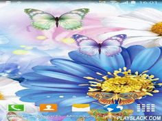 Cute Butterfly  Android App - playslack.com , Cute butterfly - pretty live wallpapers with enlivened butterflies on the background of dissimilar blossoms. The app has action function, supports sleeping mode and has easy settings.