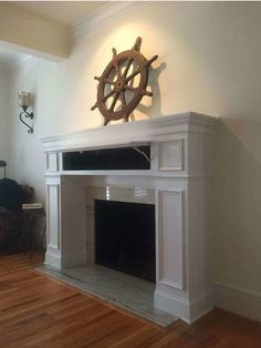Store Hidden Safes In Mantel Compartments Wood Fireplace Mantel, Home Fireplace, Living Room With Fireplace, Linear Fireplace, Living Rooms, Secret Storage, Gun Storage, Storage Ideas, Hidden Compartments