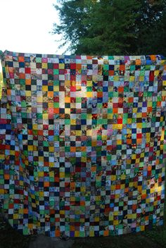 A personal favorite from my Etsy shop https://www.etsy.com/listing/248938954/unfinished-patchwork-quilt-scrappy-lap