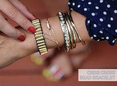 I Spy DIY: [MY DIY] Criss Cross Bead Bracelet
