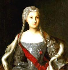 1740 Portrait of Anna Leopoldovna.  By Louis Caravaque - Irkutsk Regional Art Muzeum.