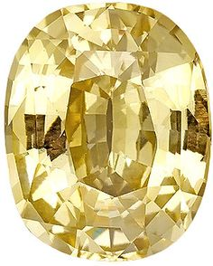 Genuine Yellow Sapphire Loose Gemstone, Orange Yellow Color, Cushion Cut, 11 x 8.9 mm, 5.26 Carats at BitCoin Gems