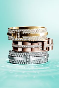 Brighten your holiday with matching diamond Tiffany T Two rings for you and that someone special.