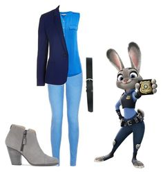 """""""Judy Hopps"""" by indianna28-2002 ❤ liked on Polyvore featuring M&Co, Salsa, Topshop and rag & bone"""