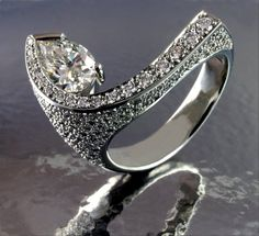 Stunning one of a kind diamond ring