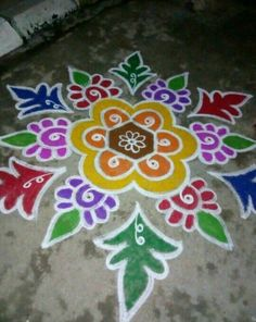 Indian Rangoli Designs, Simple Rangoli Designs Images, Rangoli Designs Latest, Rangoli Border Designs, Colorful Rangoli Designs, Beautiful Rangoli Designs, Mehndi Designs, Rangoli Borders, Rangoli Patterns