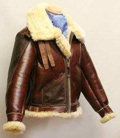 Sheepskin flight jacket
