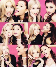Jeanette McCurdy and Ariana Grande           Sam.            And.        Cat