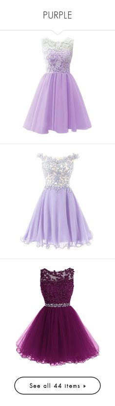 """""""PURPLE"""" by rngriffis02 ❤ liked on Polyvore featuring dresses, gowns, purple, robes, purple lace dress, bridesmaid dresses, lace prom dresses, purple evening gowns, purple prom dresses and vestidos curto"""
