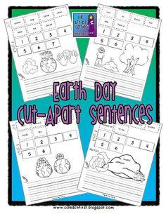 Clip Art by Carrie Teaching First: Earth Day Cut Apart Sentences
