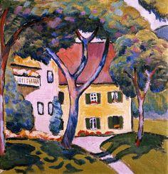 August Macke - Haus in einer Landschaft - jetzt bestellen auf kunst-fuer-alle.de
