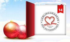 Heute dreht sich hinter dem Fenster unseres clever® Adventkalenders 2012 alles um die Lieblingsmarken der ÖsterreicherInnen*! Wie clever® bei einer aktuellen Studie dazu abgeschnitten hat und wie Ihr damit gewinnen könnt, erfahrt Ihr in unserem Onlinemagazin http://www.cleverleben.at/clever-magazin/post/2012/12/14/das-14-fenster-ist-offen.html