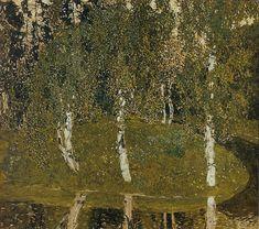 Birches, 1908-1911, Aleksandr Yakovlevich Golovin. Russian (1863 - 1930)