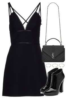 """Untitled #3039"" by inthestyleofnina ❤ liked on Polyvore featuring Forever 21, Prada, Yves Saint Laurent and Giuseppe Zanotti"