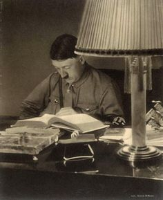 Pictorial History Of The NSDAP — Probably in his office at the Braunes Haus,...