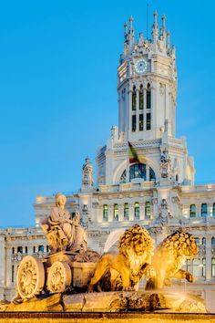 Cibeles Fountain Located Downtown Madrid Spain Stock Photo (Edit Now) 153033095 Imagenes Real Madrid, Best Holiday Deals, All Inclusive Vacation Packages, Foto Madrid, Spain And Portugal, Travel Activities, Places Around The World, Day Trips, Beautiful Places
