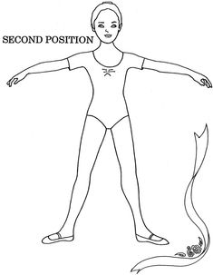 how to do ballet moves releve' pictures for beginners as coloring sheet with name - Google Search