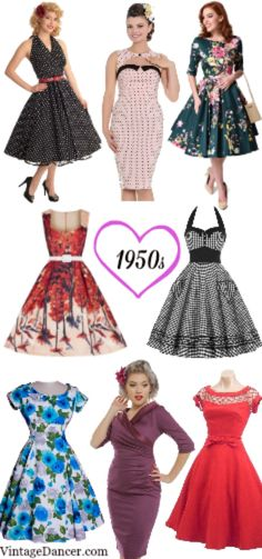 1950s dresses. New vintage inspired styles by your favorite brands at VintageDancer.com/1950s