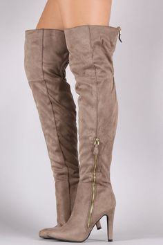 8c050718257 Qupid Suede Zipper Trim Over-The-Knee Boots · Thigh High ...