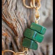 Hammered Brass and Jade