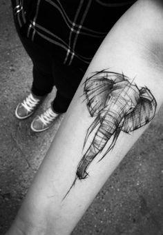 Tattoo Elefant