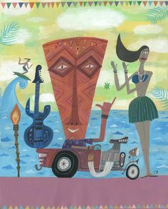 Tiki Fest by Calef Brown by CalefBrown on Etsy, $1100.00