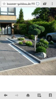 This is our daily lawn mowing - front yard ideas modern Driveway Paving, Driveway Design, Driveway Landscaping, Asphalt Driveway, Walkway, Landscaping Ideas, Lawn And Landscape, Garden Landscape Design, Outdoor Stone