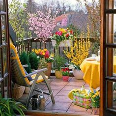42 Ideas for small gardens - Balconies | My desired home