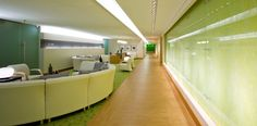 St. Joseph's Healthcare Hamilton | Perkins+Will - carpet and lvt space separation