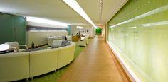 St. Joseph's Healthcare Hamilton | Perkins+Will - carpet and lvt space separation