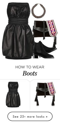 """Fendi dress and isabel marant bag"" by hugohsm on Polyvore featuring Fendi and Isabel Marant"