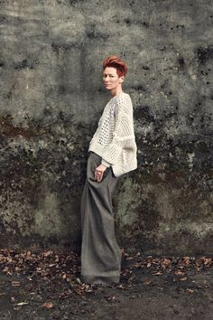 Great trousers and great look here on Tilda Swinton!