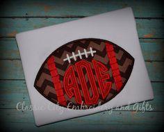 Football circle monogram shirt by ClassicCityEmb on Etsy, $24.00