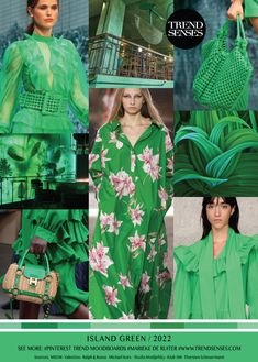 Fashion Colours, Green Fashion, Colorful Fashion, Look Fashion, Fashion Design, Summer Fashion Trends, Spring Summer Fashion, New Trends, Color Trends