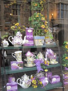 Tea Shop Window - At Epcot's United Kingdom