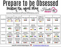Countdown to 80 Day Obsession - Portion Fix Meal Plan | Hustle & Heart Fitness