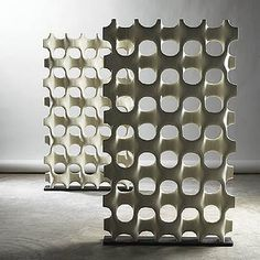Don Harvey, fiberglass room dividers, 1960s.