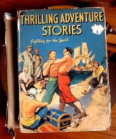 Thrilling Adventure Stories Boys story book 1939 childrens book The Childrens Press antique childrens book vintage book adventure man cave by StrawberryfVintage on Etsy