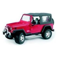 """Maisto Die Cast 1:18 Scale Red Wrangler Rubicon by Maisto. $30.01. Approx 9-1/2"""" large. Opening doors with hood or trunk. Full function steering. Four wheel suspension. Die-cast metal body with plastic parts. This vehicle is a highly detailed die-cast precision model and is approx 9-1/2"""" large. It features die-cast metal body with plastic parts, opening doors, hood or trunk, full function steering, four wheel suspension and detailed chassis mounted on plastic stand"""