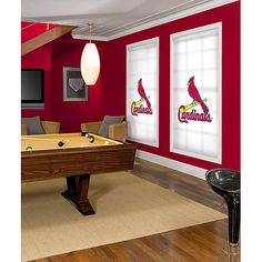 St. Louis Cardinals Roller Shade - I could totally make this with wall stickers