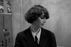 """Last week, to mark the release of The First Bad Man, we interviewed Miranda July here at The Millions. In Bookforum, you can read another interview with July, who talks about striving to mimic the feeling of """"purposely unfinished work. Miranda July, Short Curly Hair, Short Hair Styles, The First Bad Man, Victor Victoria, I Cant Do This, Straight Guys, Photo And Video, Girlfriends"""