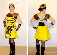 Adult Queen Bee Costume - scratchandstitch.com