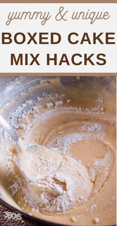 Cake Mix Desserts, Cake Mix Cookies, Easy Desserts, Cookies Et Biscuits, Cake Mix Cupcakes, Cake Mix Muffins, Baking Cupcakes, Box Cake Recipes, Dessert Recipes