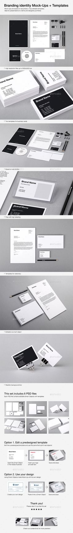 branding identity mock ups and templates by vitalliy mock ups are based on real photos fully editable templates ideal for presentations to clients and