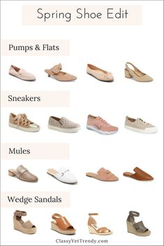 Spring Shoe Edit - See a few new shoes I've found and find out which shoes are on-trend this Spring!