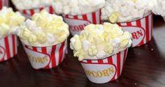 """popcorn"" cupcakes.  13th birthday party idea."