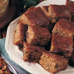 Prune Cake with Glaze Recipe - similar to PW's, but with nuts (could use pecans or walnuts)