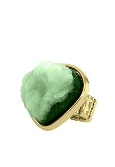 Emerald agate ring -