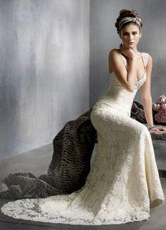 Lazaro lace wedding dress