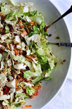 Napa Cabbage Salad, fresh and flavorful, a great side for a crowd.